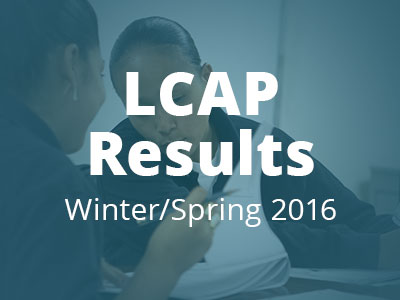 Webinar: LCAP Results and Annual Update, Spring 2016